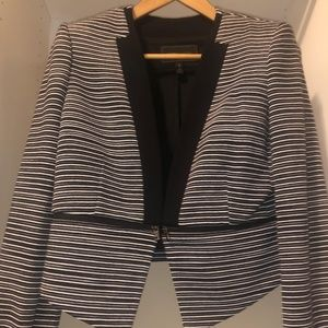 Jacket with a faux leather cami